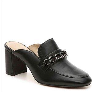 Enzo Angiolini black Gilian leather slip on shoes
